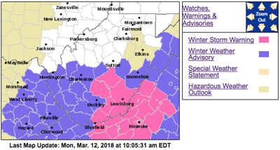 Wv Power Outage Map.Southern W Va Reports Traffic Incidents Power Outages As Winter