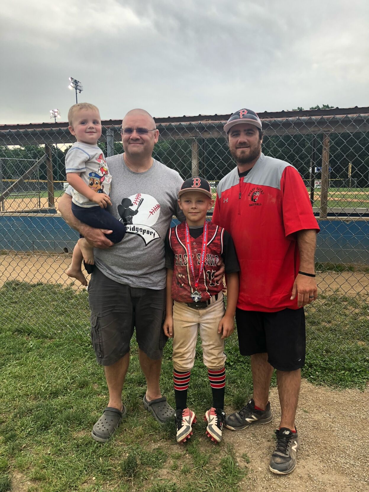 Chuck Dunn, son and grandsons