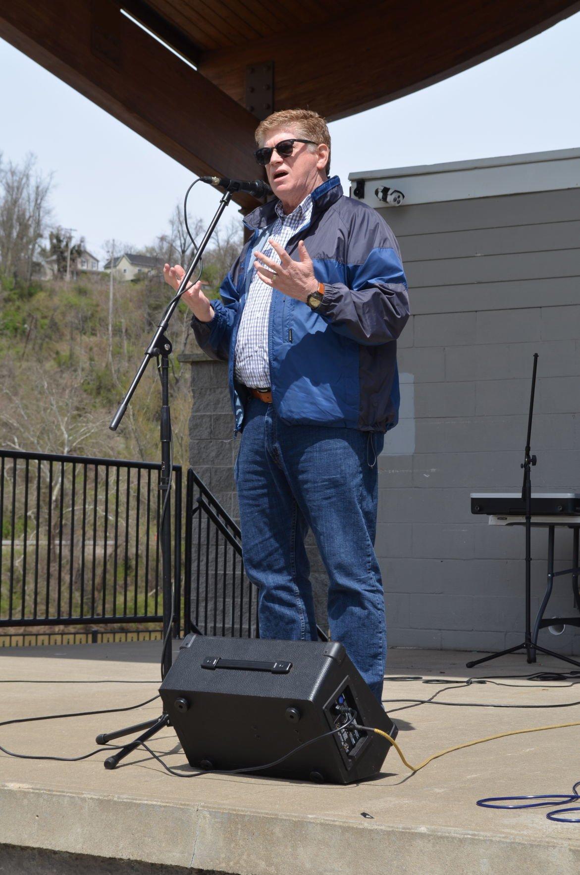 Bob Beach at rally