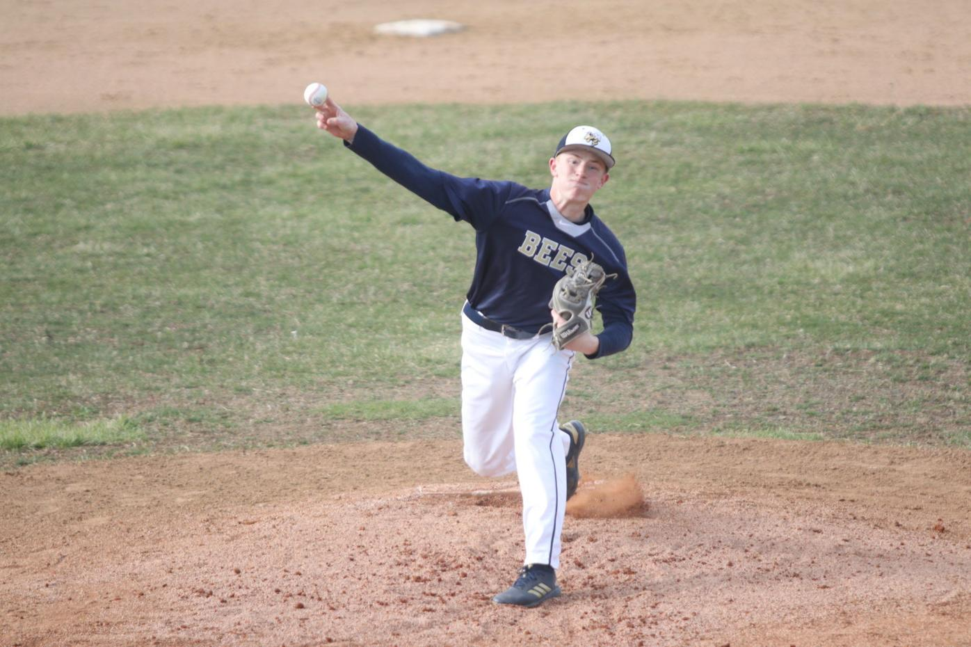 Cole Peschl delivers a pitch