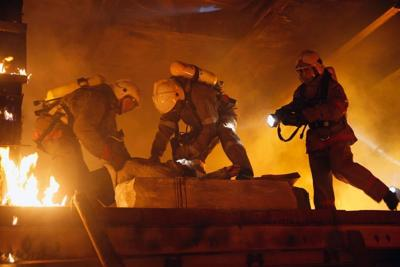 6124560 - rescue team help accident victim