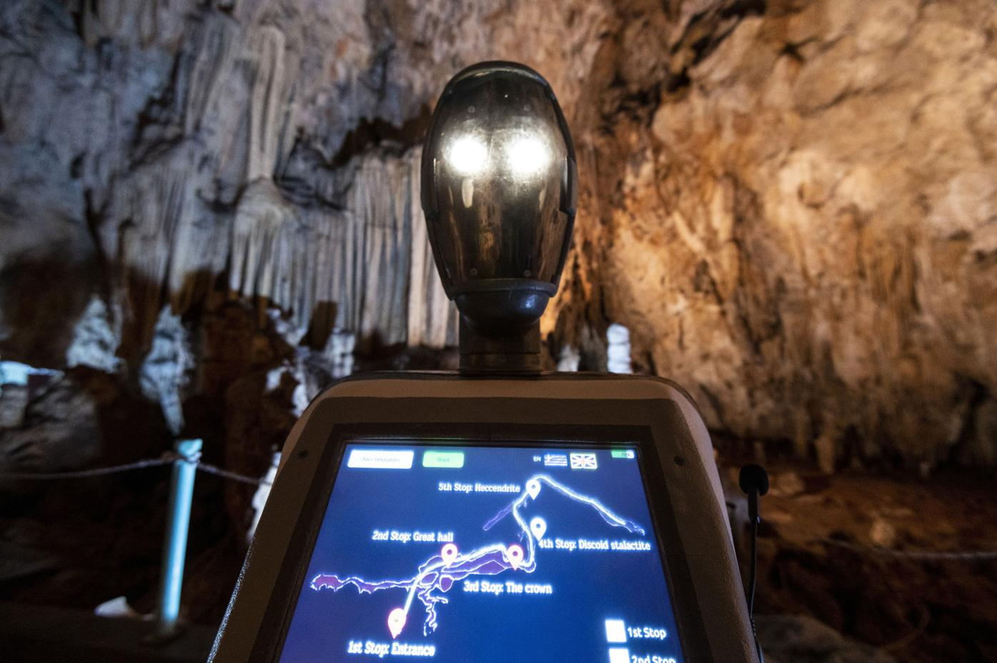 Greece Cave Robot In your face screen
