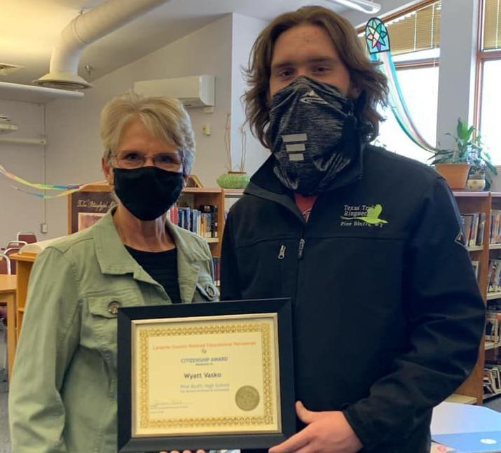 Tech-savvy Pine Bluffs senior wins citizenship award