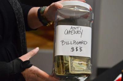Anti-Cheney billboard jar (copy)