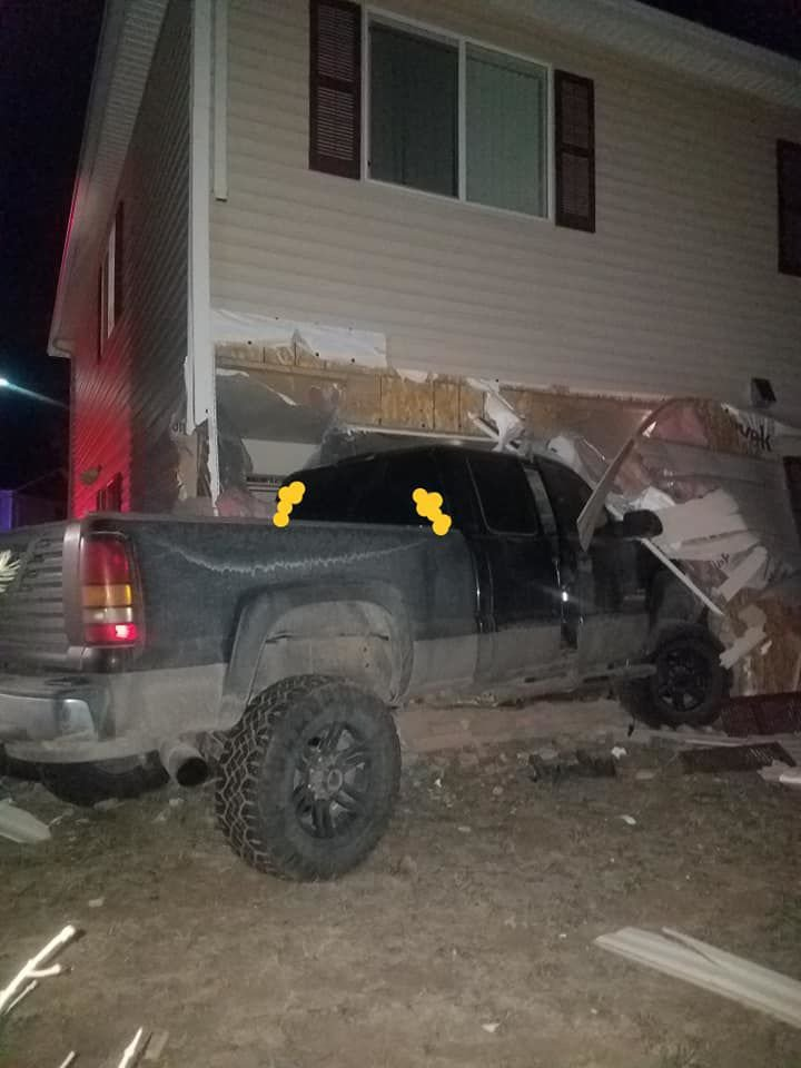 Truck into apartment 1-12-20