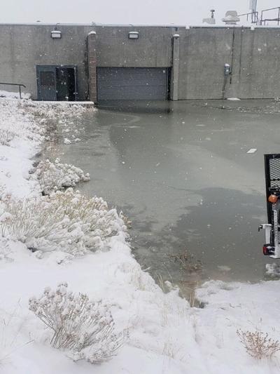 Rawlins wasterwater plant flooding