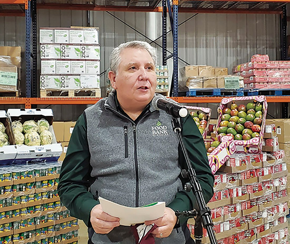 Food Bank of Wyoming director Tony Woodell