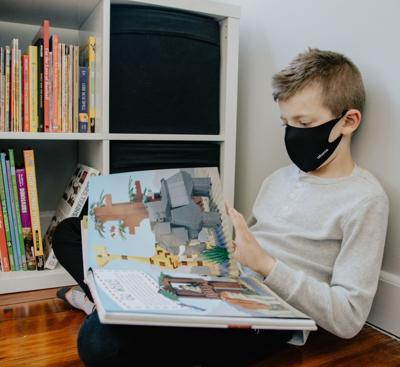 Student wearing a mask FILE 2