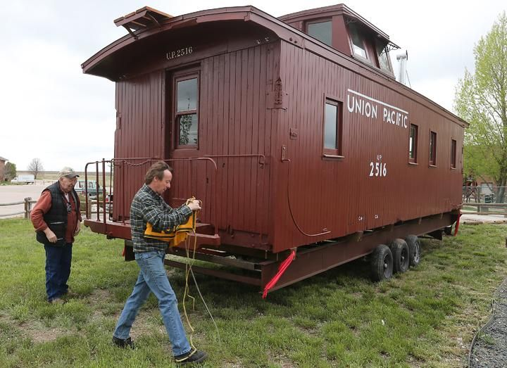 Railroad Enthusiasts Unveil Renovated Century Old Caboose