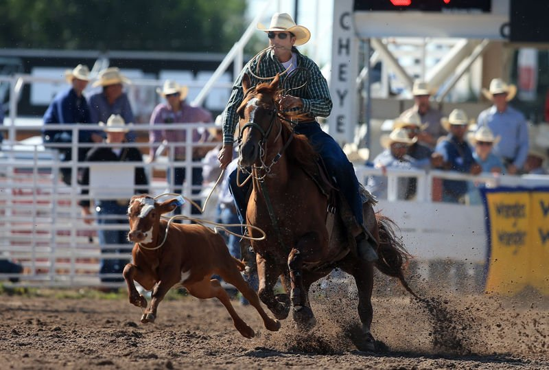 2018 Cheyenne Frontier Days Rodeo Slack Tie Down Roping