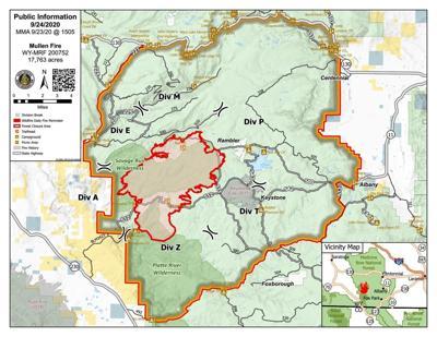 Mullen Fire map 20200924
