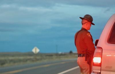Wyoming Highway Patrol officer