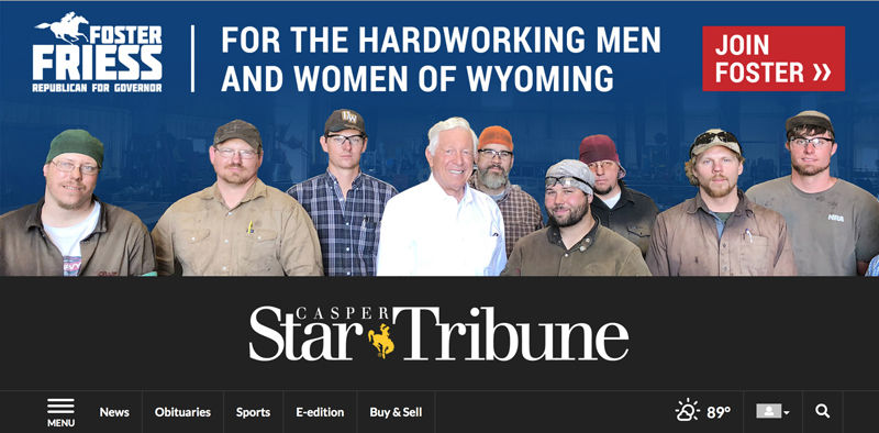 """Candidate Friess' advertisement criticized as """"tone deaf"""" 