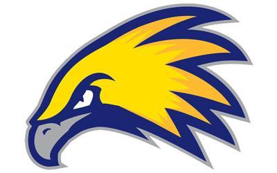 Laramie County Community College Golden Eagles logo white