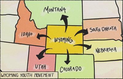 Leaving Wyoming illustration