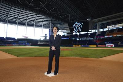 Marlins Ng Hired Baseball