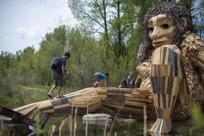 Troll art installation at R Park