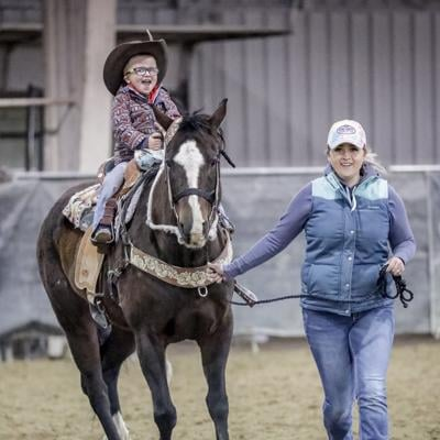 Sandra Johnson and her son, Cooper enjoyed the last Wild West Outlaw event.