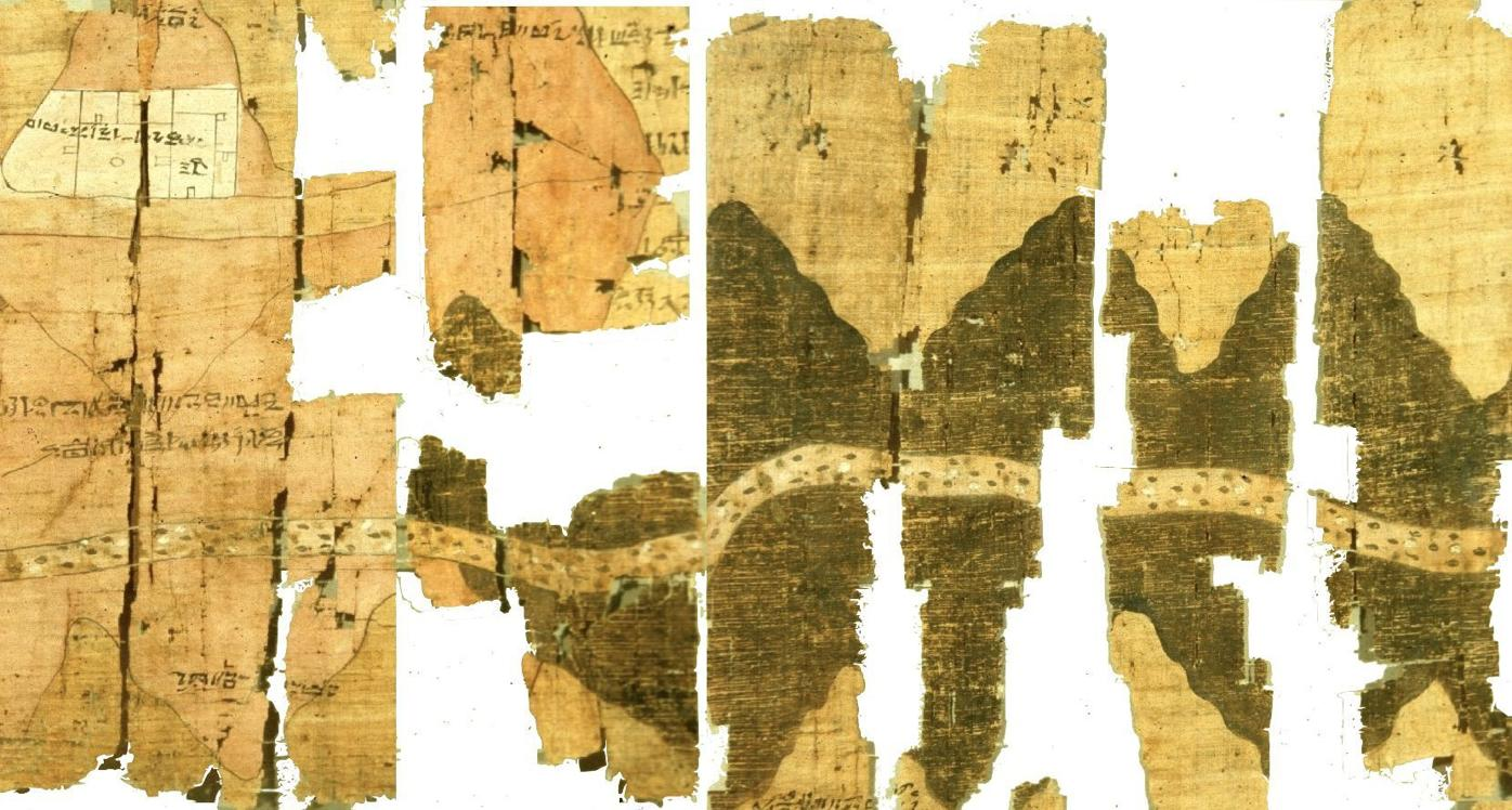 Papyrus map