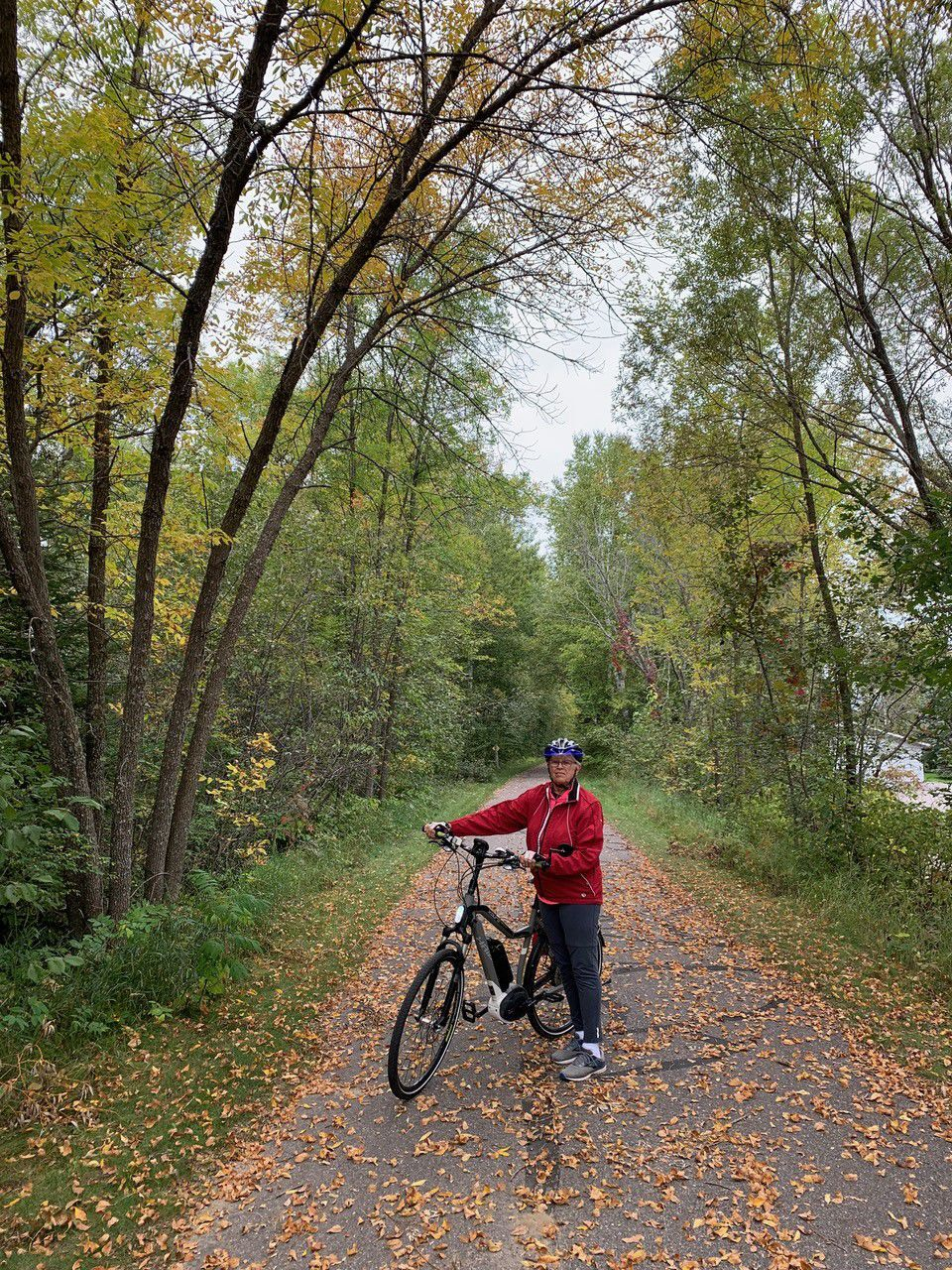 Ardath and bike on the trail