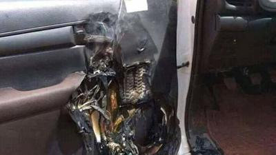 Hand Sanitizer Causes Car Fire