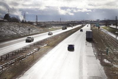 Cars travel on Interstate 80