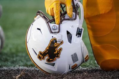 Wyoming Cowboy Football helmet