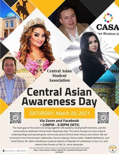 Central Asian celebration poster