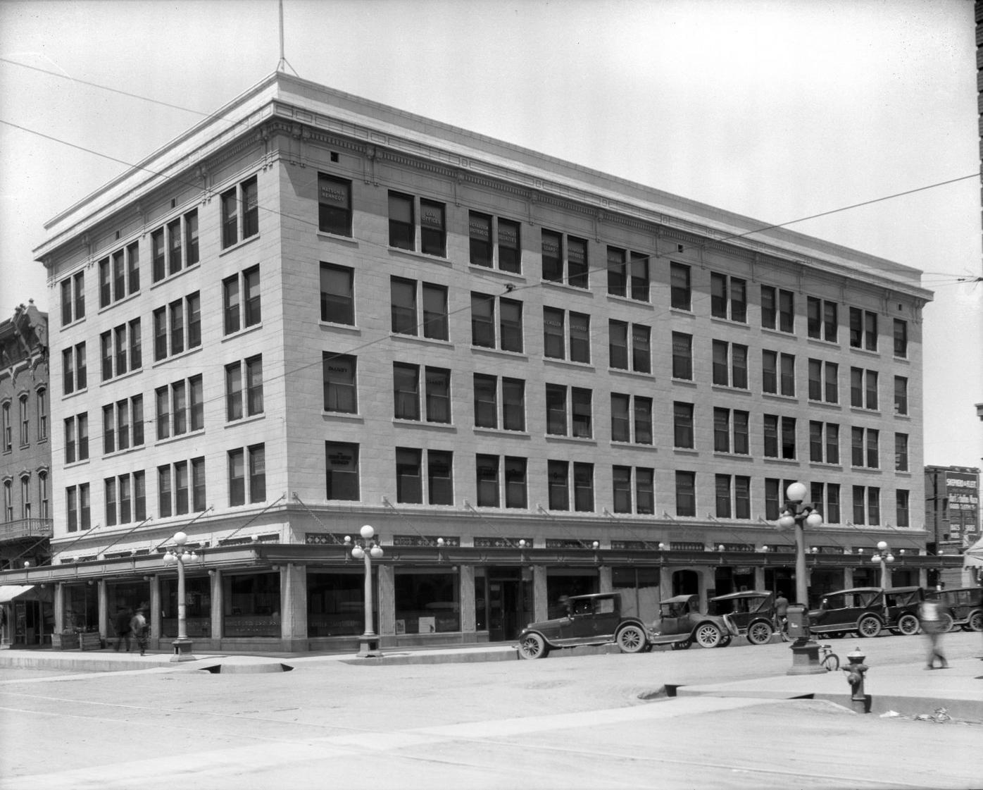 Meyers Neg 714, HP Hynds Building, Cheyenne 10-1919.tif