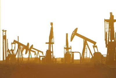 Oil rigs stock photo