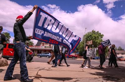 Cody Trump BLM protest