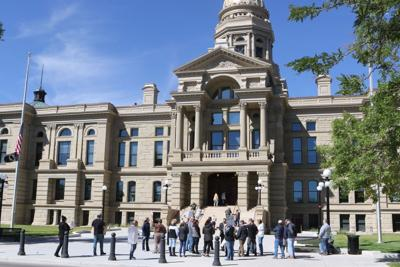 No mask protest at Wyoming Capitol