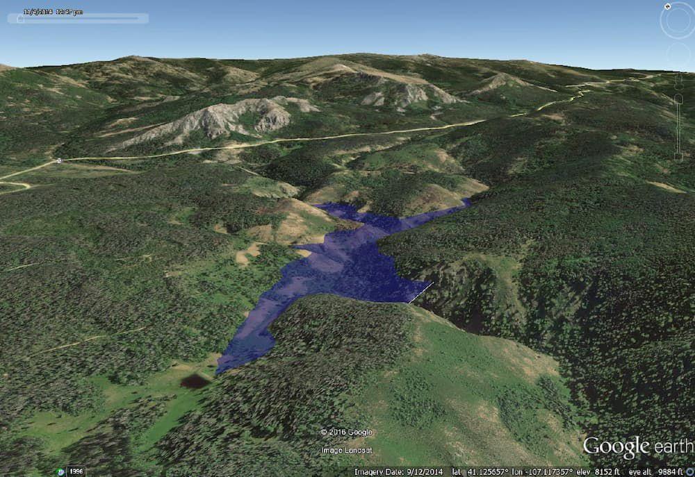 Dam on West Fork of Battle Creek reservoir