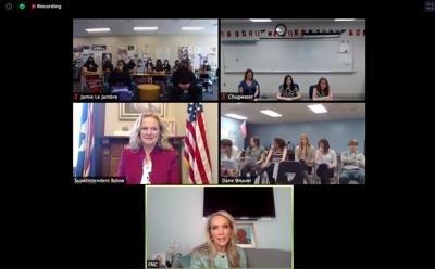 Dana Perino speaks with Wyoming students