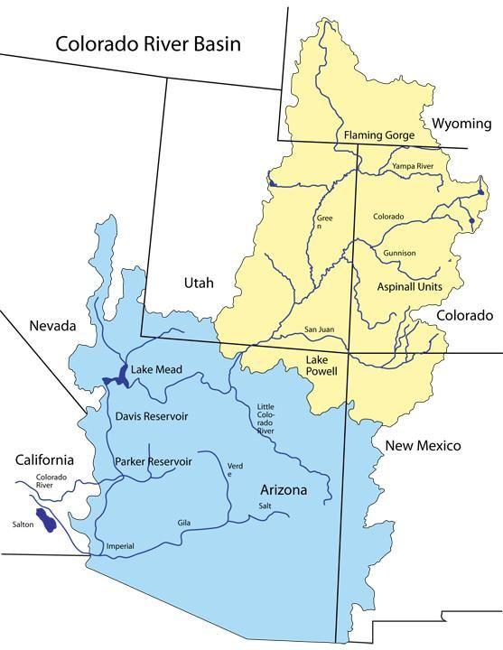 Demand On Wyoming Water Rises News Wyomingnewscom - Colo river map