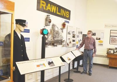 Carbon County Museum railroad display