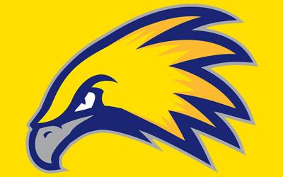Laramie County Community College Golden Eagles logo yellow