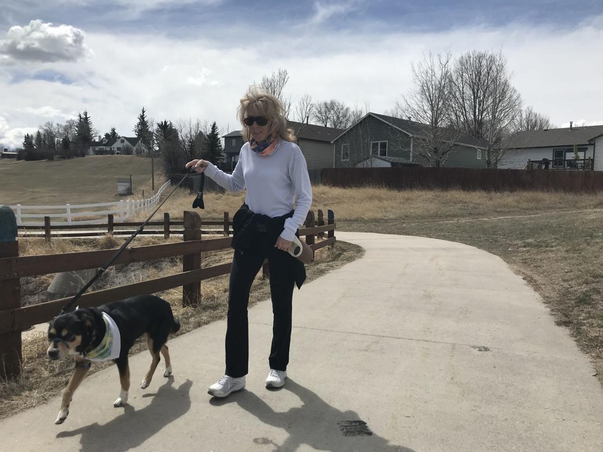 Walking dog on the Greenway