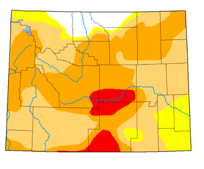 Wyoming drought conditions in late April
