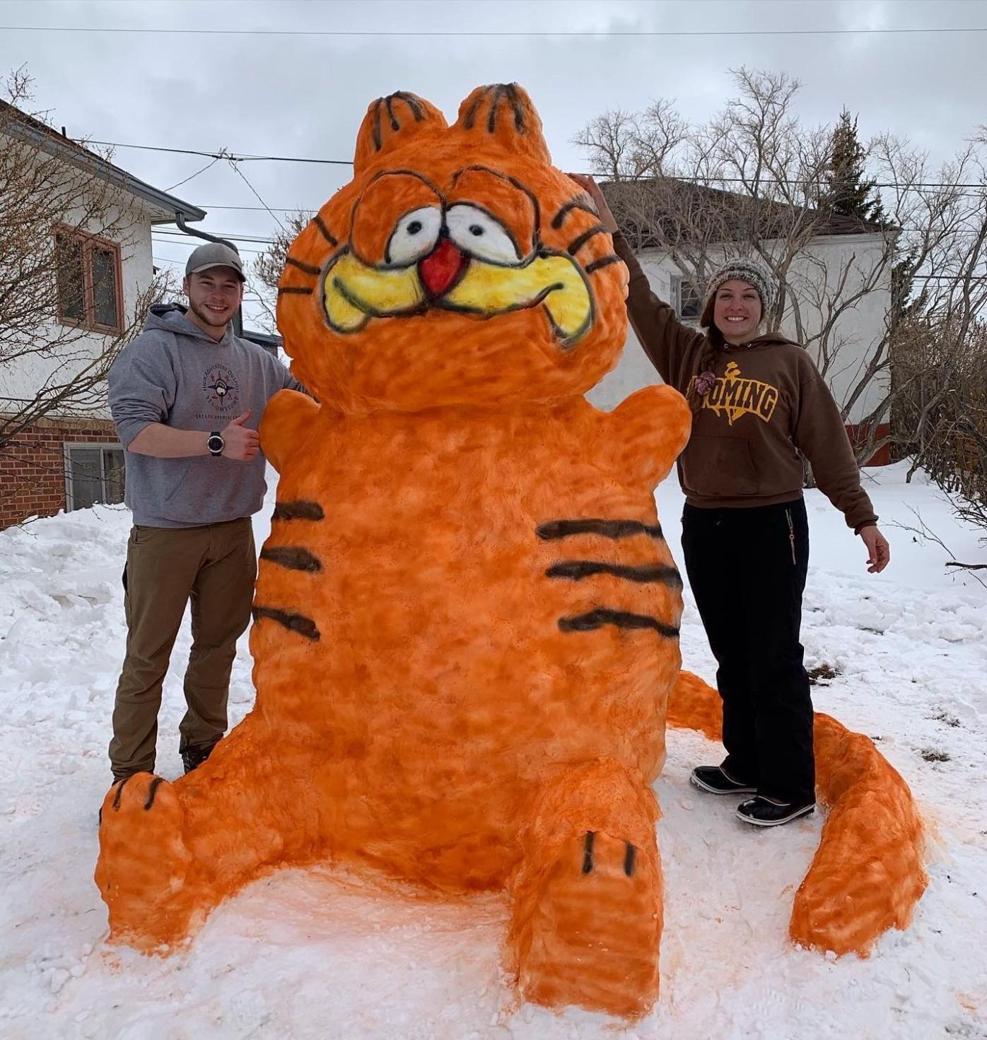 Garfield snowman No. 1