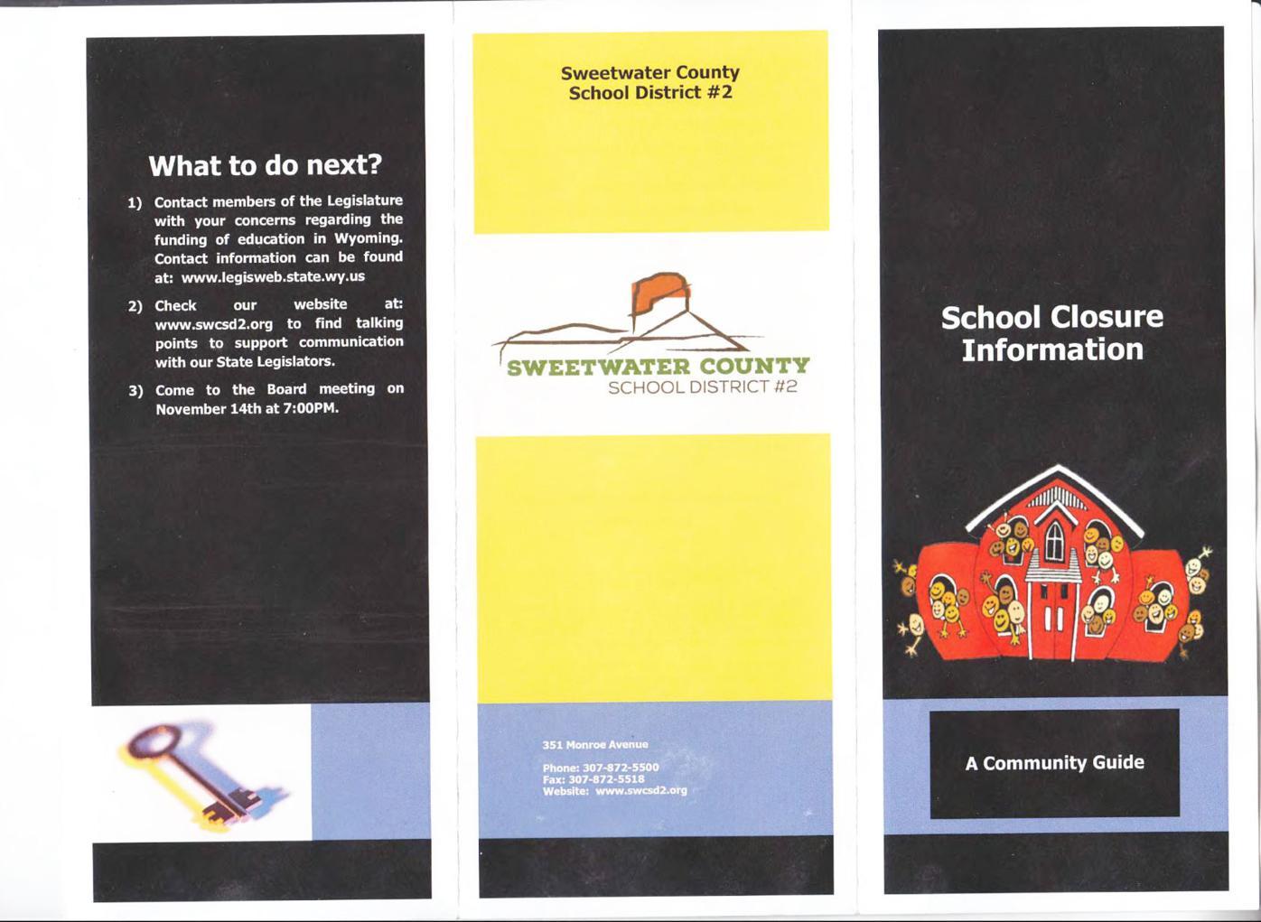 Flier details school closing plans ahead of board vote