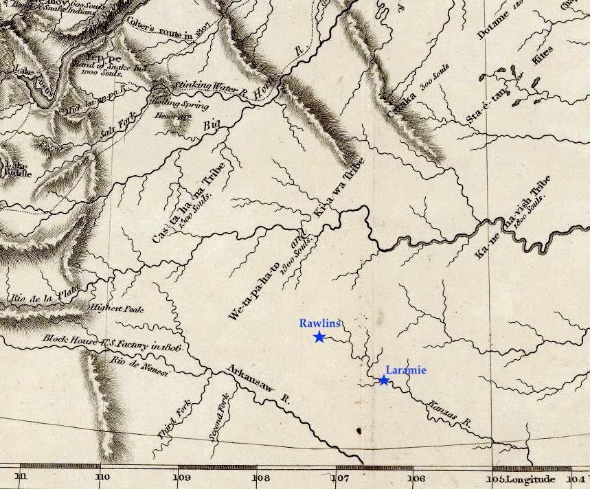 Laramie Plains map