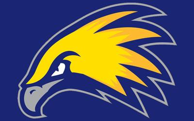Laramie County Community College Golden Eagles logo blue