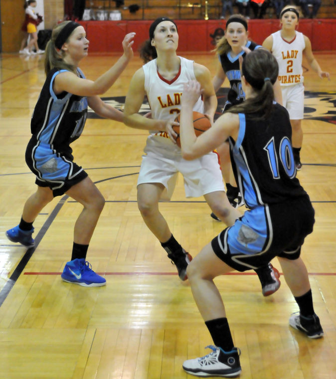 delmont girls Tripp — thanks to a 22-5 lead after one quarter, undefeated tripp-delmont-armour defeated gayville-volin 57-40 in a class b girls' basketball battle saturday in tripp.