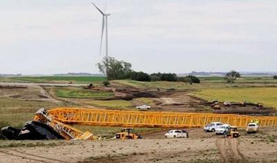Crane Collapses Near Tripp