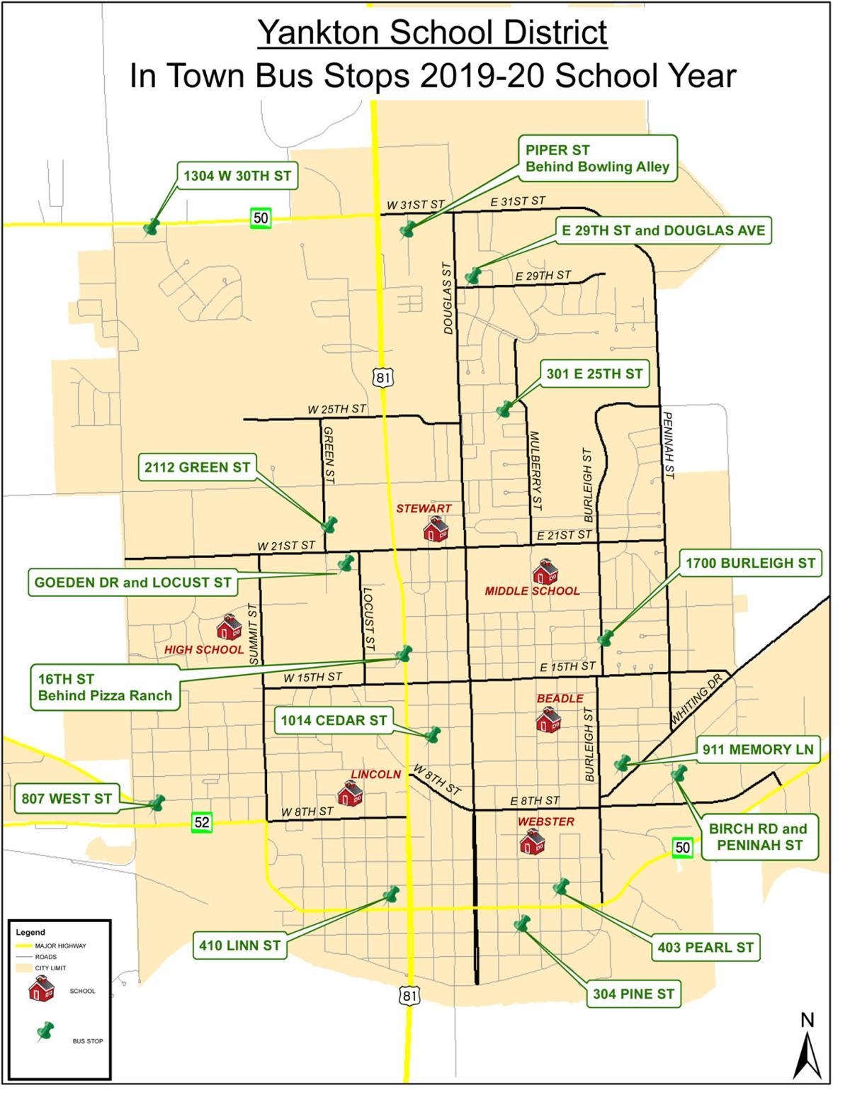 YSD Bus Stops