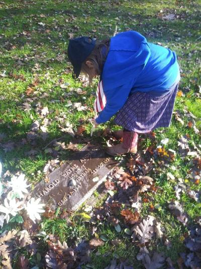 Cub Scouts Honor Veterans at Yelm Cemetery