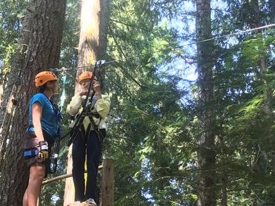 Thurston County Women Break Zipline Records at Ages 94 and 91