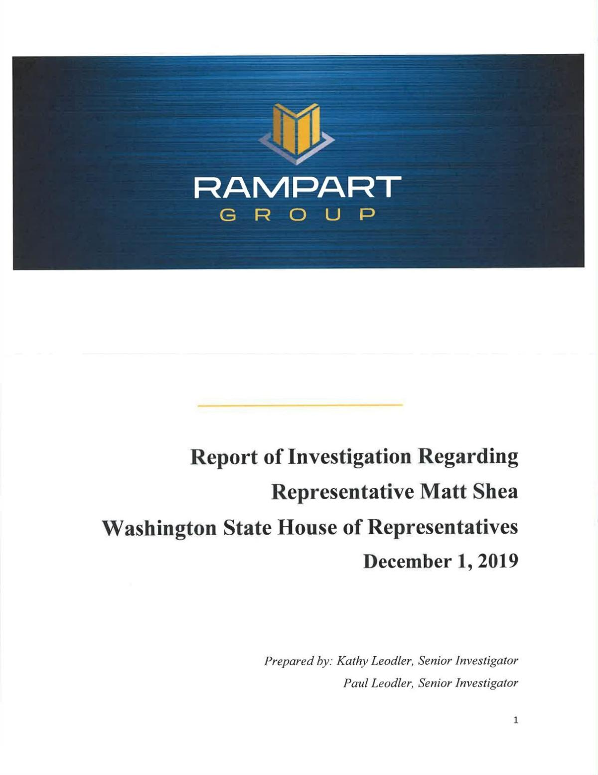 Read It Here: Rampart Group Investigative Report on State Rep. Matt Shea