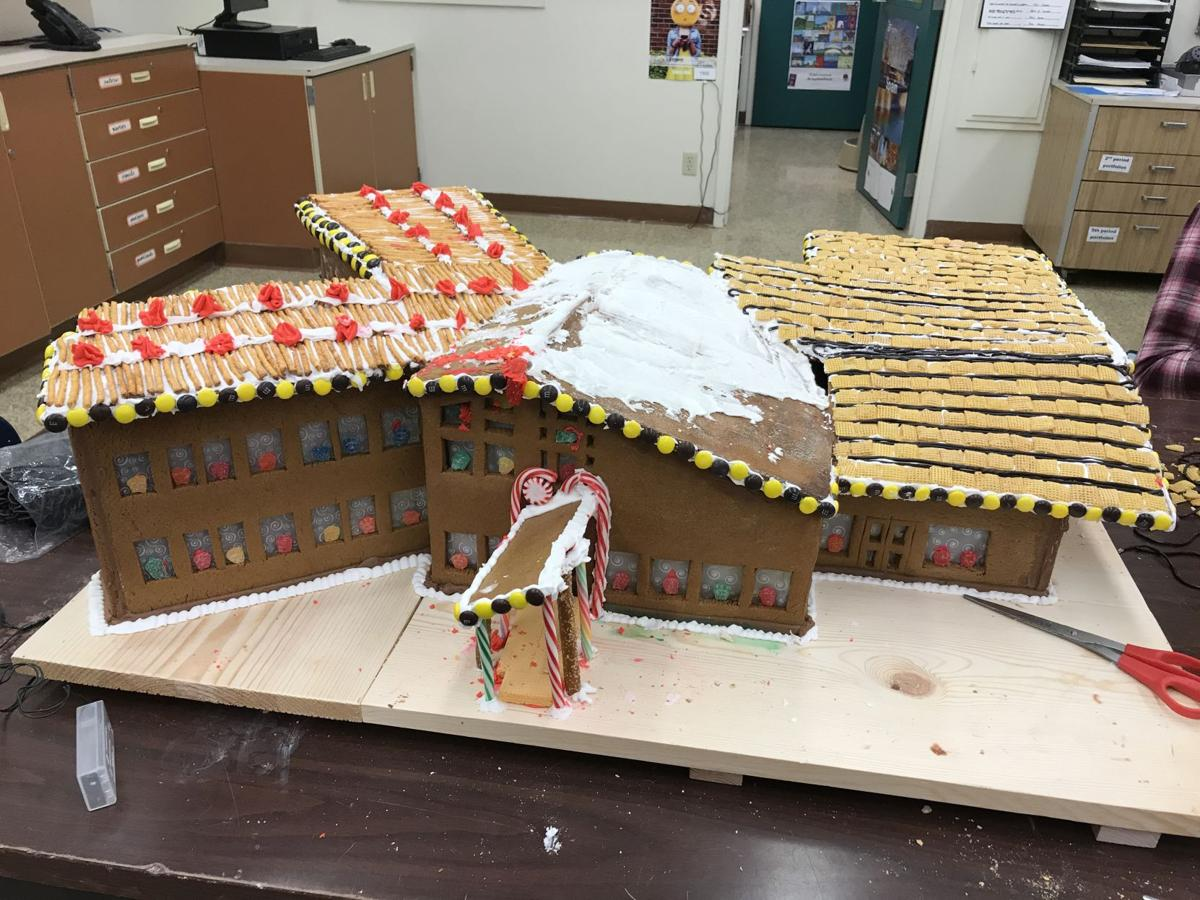 YMS Students Create Gingerbread House Model of New Middle School